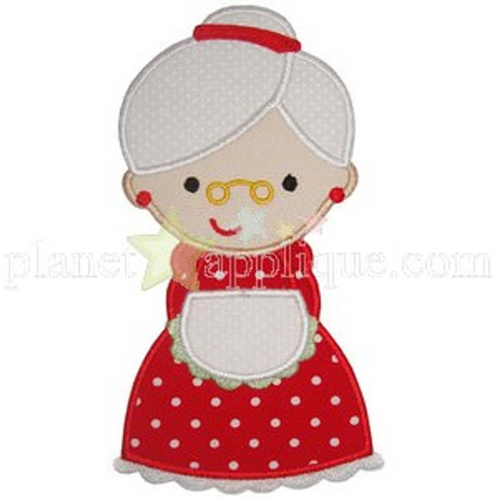 Mrs Claus Applique