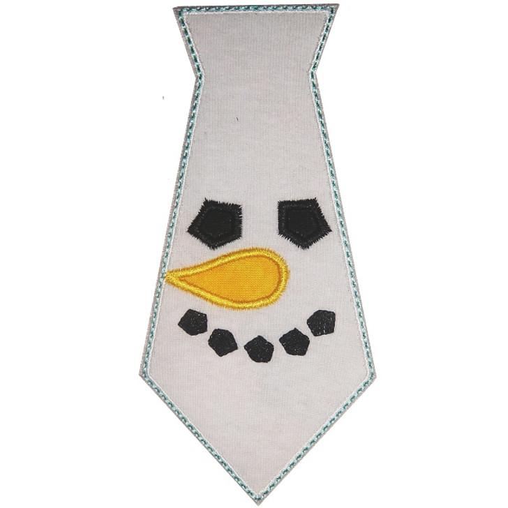 Snowman Tie Applique
