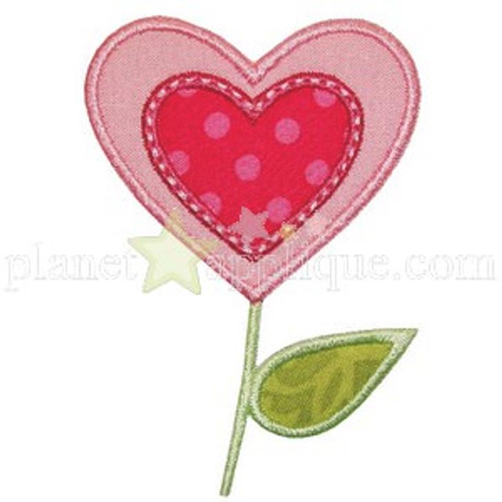 Heart Flower Applique