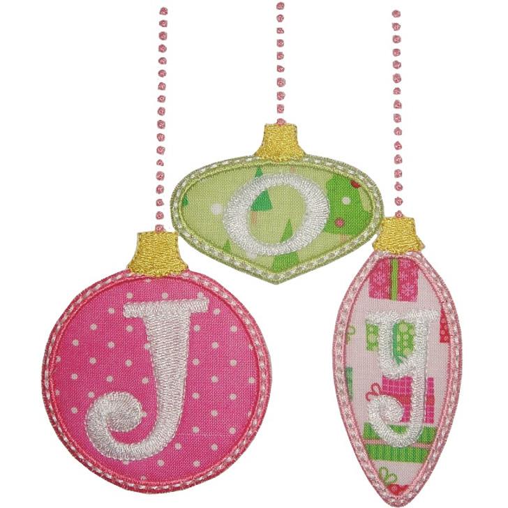 Joy Ornaments Applique