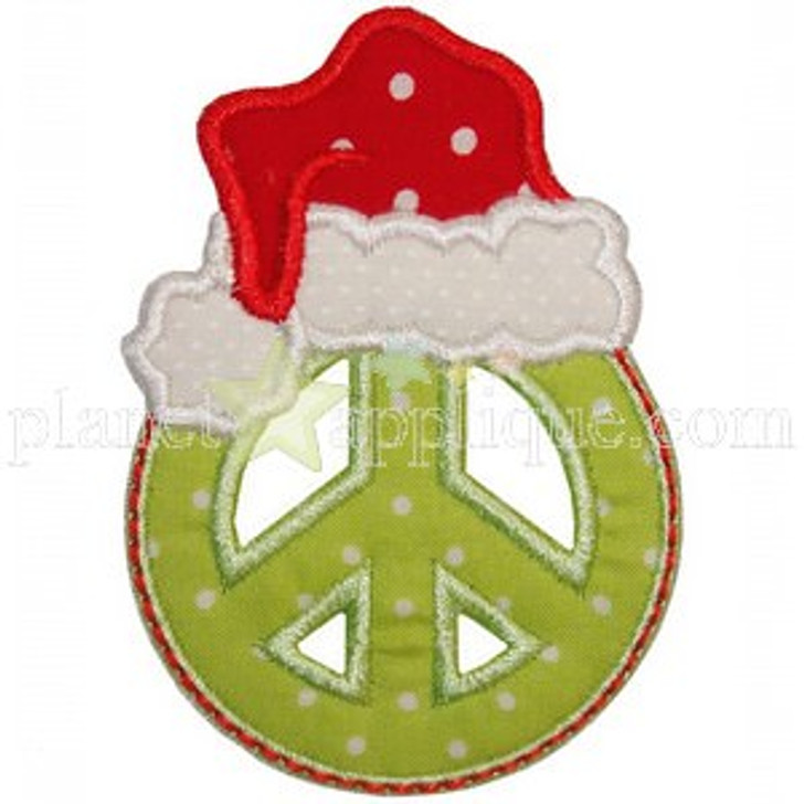 Peace Santa Applique