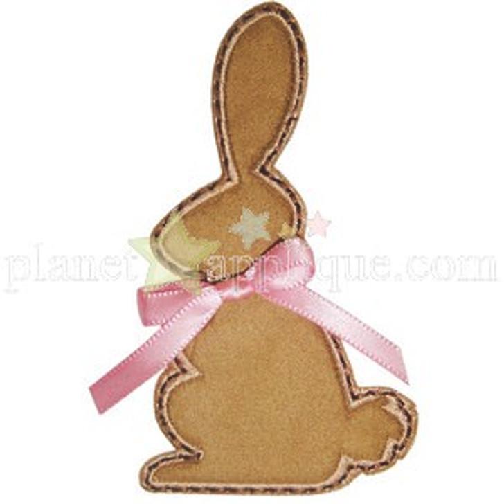 Chocolate Bunny Applique
