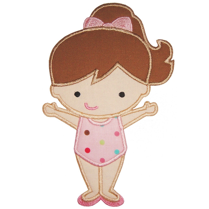 Gymnastic Girl Applique