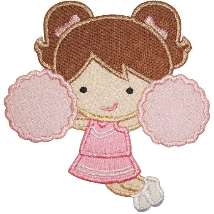 cheerleader Girl Applique