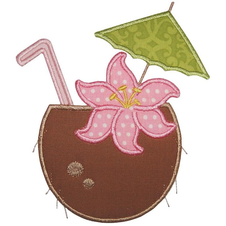 Coconut Drink Applique