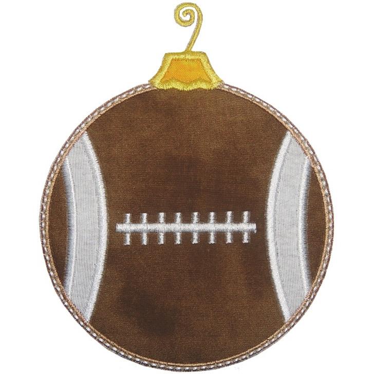 Football Ornament Applique
