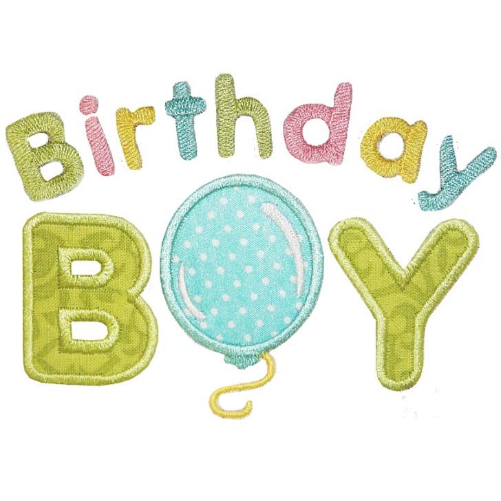 Birthday Boy Applique
