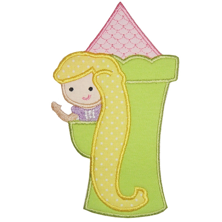 Rapunzel Applique