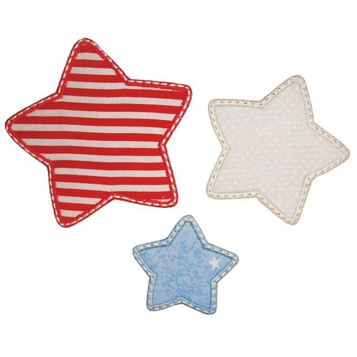 Three Stars Applique