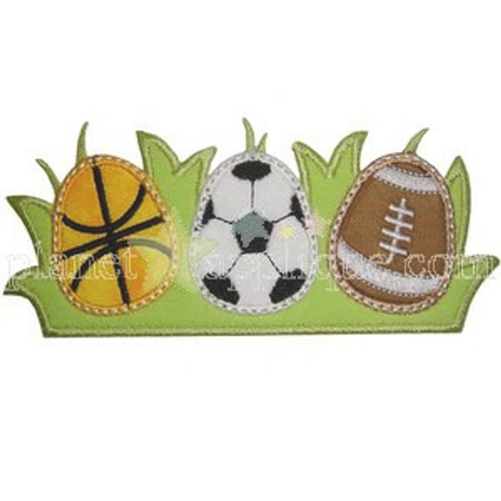 Sports Eggs Applique