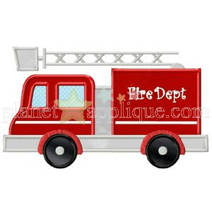 Fire Truck Applique Planet Applique Inc