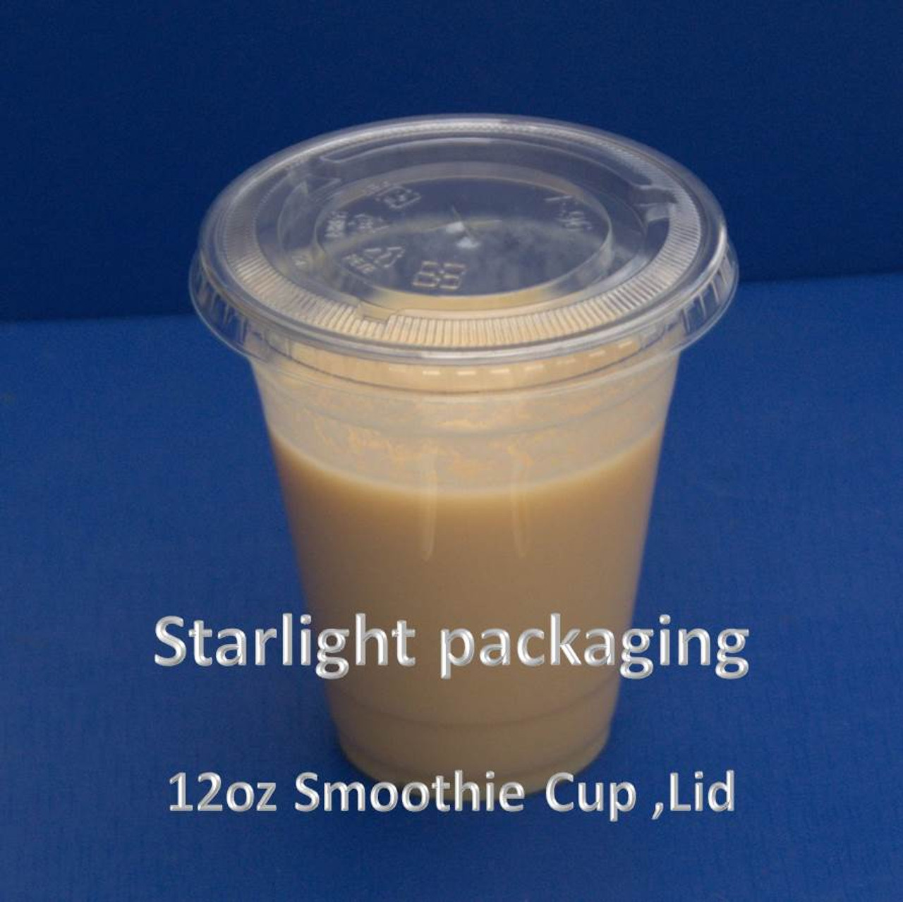 Pack x 50 12oz Clear Plastic Smoothie Cup and lid