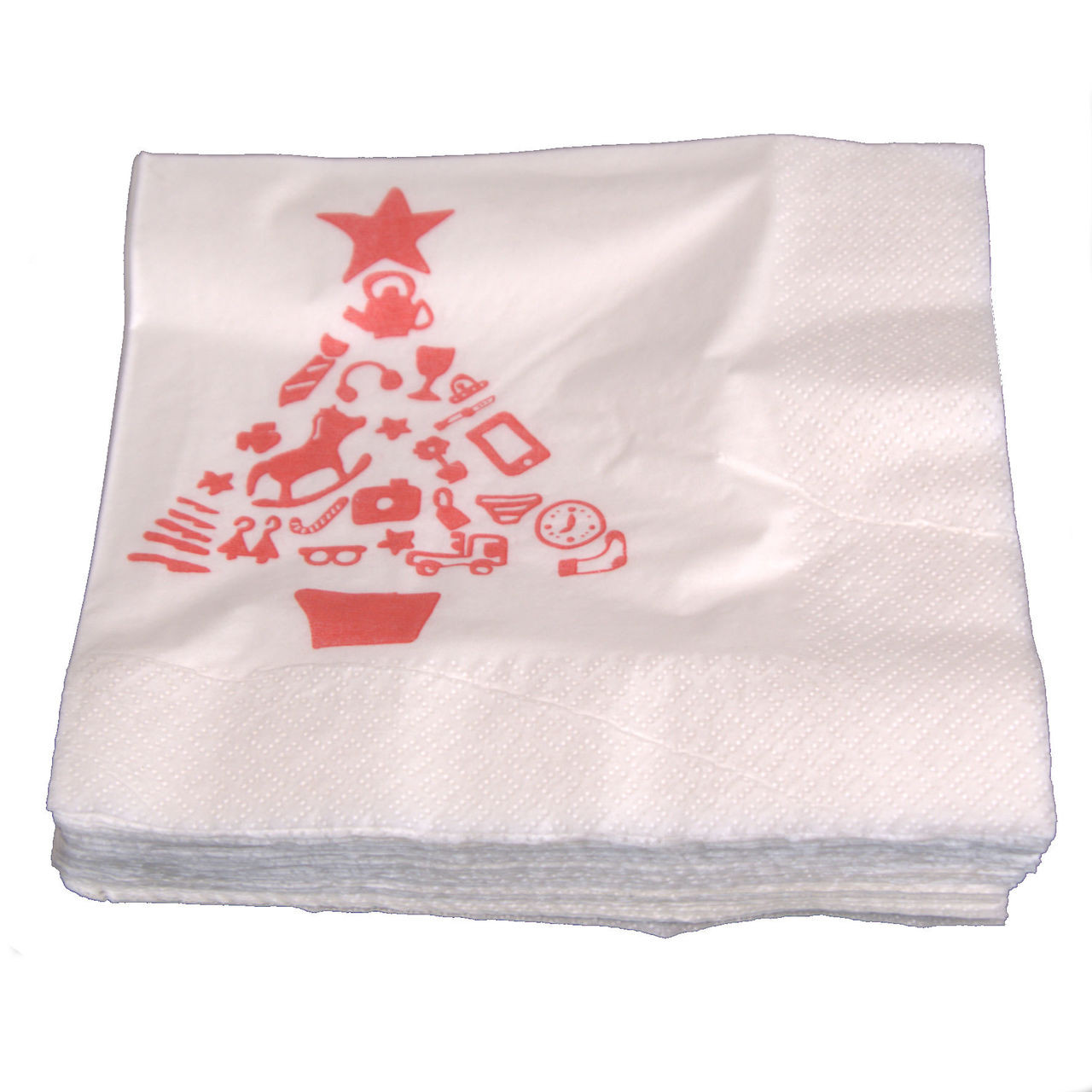 Christmas Napkins.Pack X 50 Christmas Napkins Country 33 X 33cm 2ply Min 20 Packs