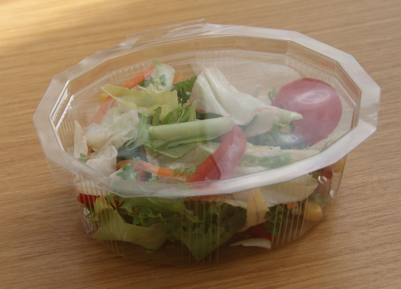 Case x 360 250ml Hinged Lid salad Container ( 125 x 100 x 40mm )