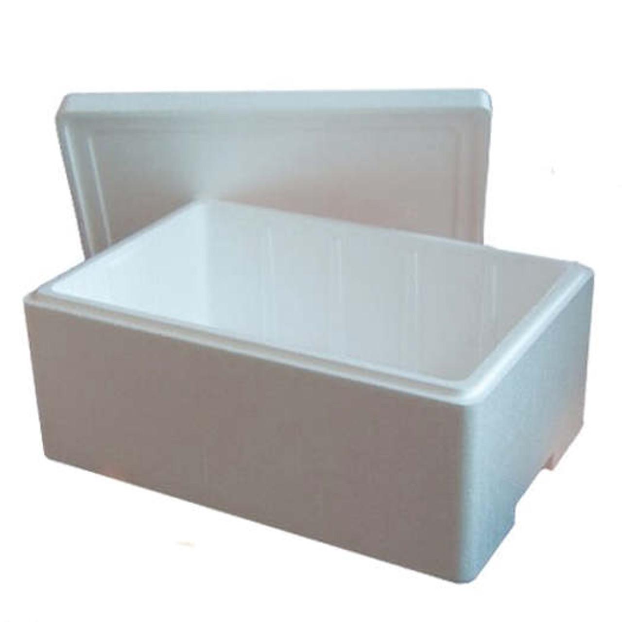 20klo 585 x 365 x 240mm Polystyrene box & lid ( min 40 boxes )