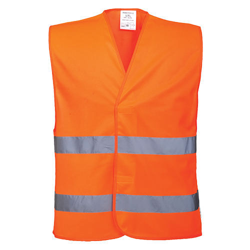 Portwest Hi-Vis Two-Band Vest (C474) L/XL Orange