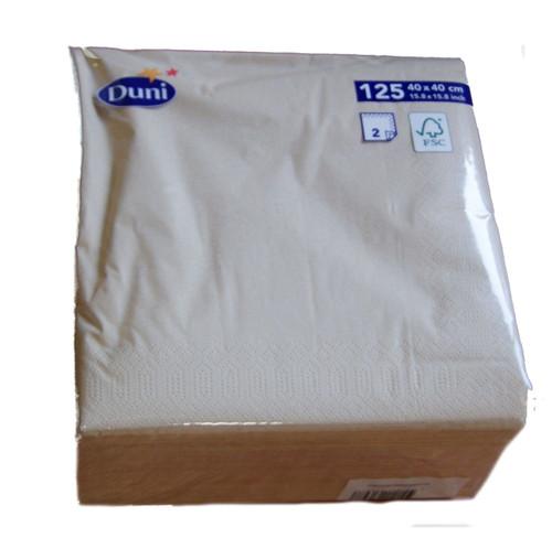Pack 125 Duni 40 x 40cm 2ply Dune Napkins  ( min 8 packs )