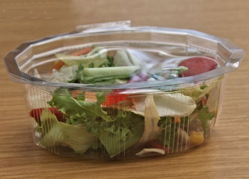 Pack x 50 250ml Hinged Lid salad Container ( 125 x 100 x 40mm )