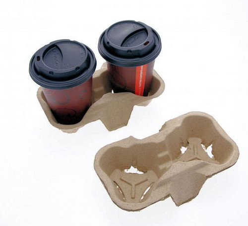 2 Coffee Cup Carry Tray