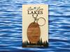 MI Cheboygan County Mullett Lake elliptical keychain in cedar.