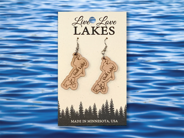 Minnesota Lake Earrings: Crow Wing County