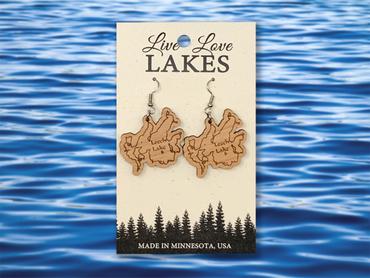 Minnesota Lake Earrings: Cass County