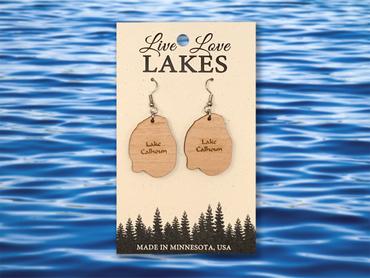 Minnesota Lake Earrings: Hennepin County