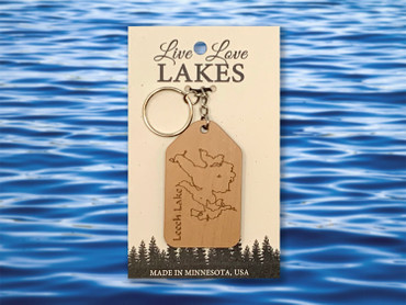 Minnesota Lake Keychain: Cass County