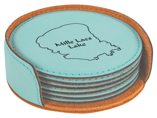 MN Mille Lacs County Mille Lacs Lake in teal/black