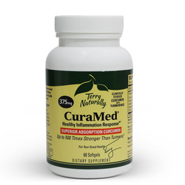 CuraMed  Superior Absorption Curcumin - 375mg - 60 Softgel Capsules