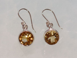 Citrine & Sterling Silver Earrings