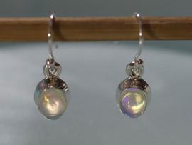 Ethiopian Opal & Sterling Silver Earrings