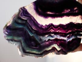 Polished Fluorite Slice