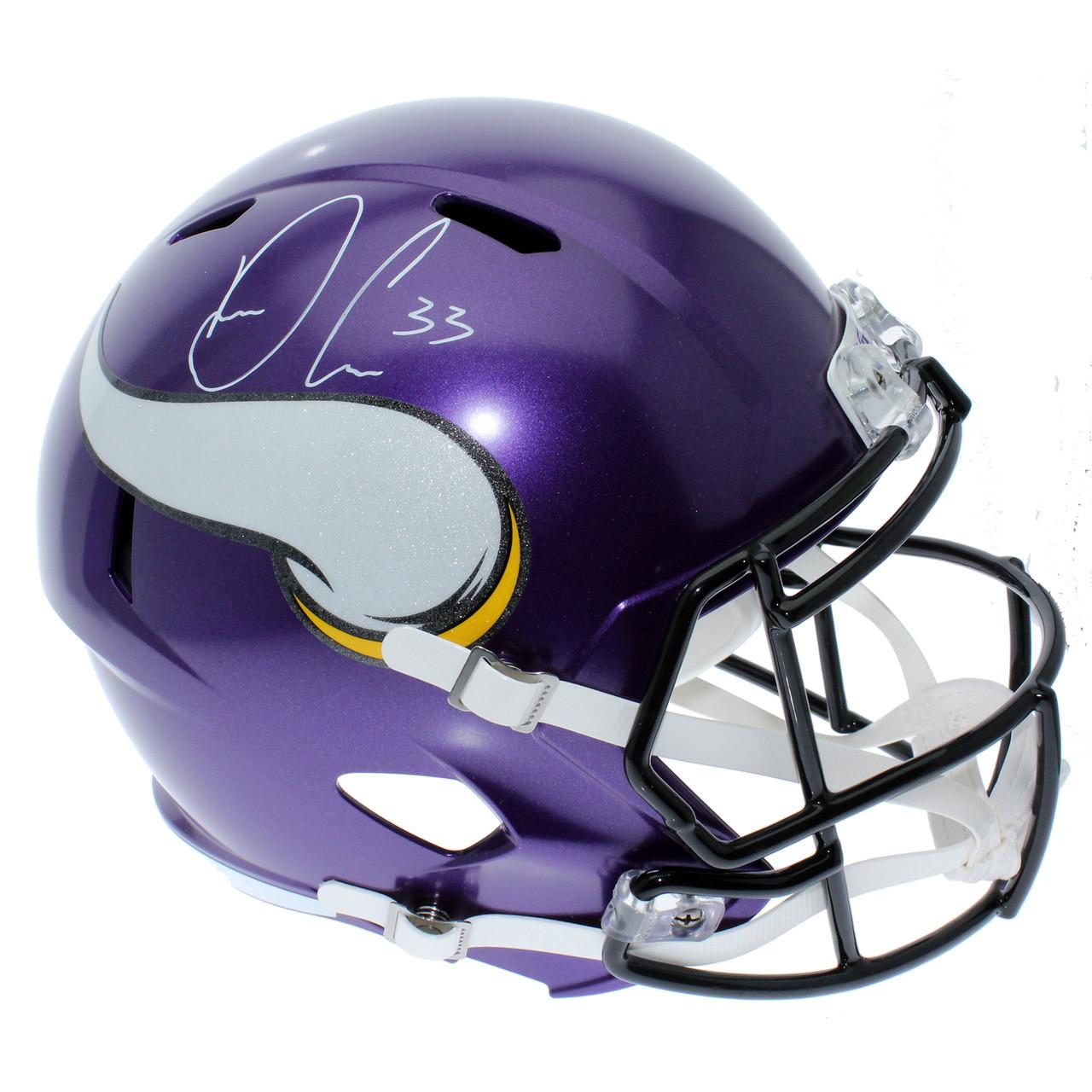 cb7b489c Dalvin Cook Autographed Signed Minnesota Vikings Riddell Full Size Speed  Replica Helmet - JSA Authentication
