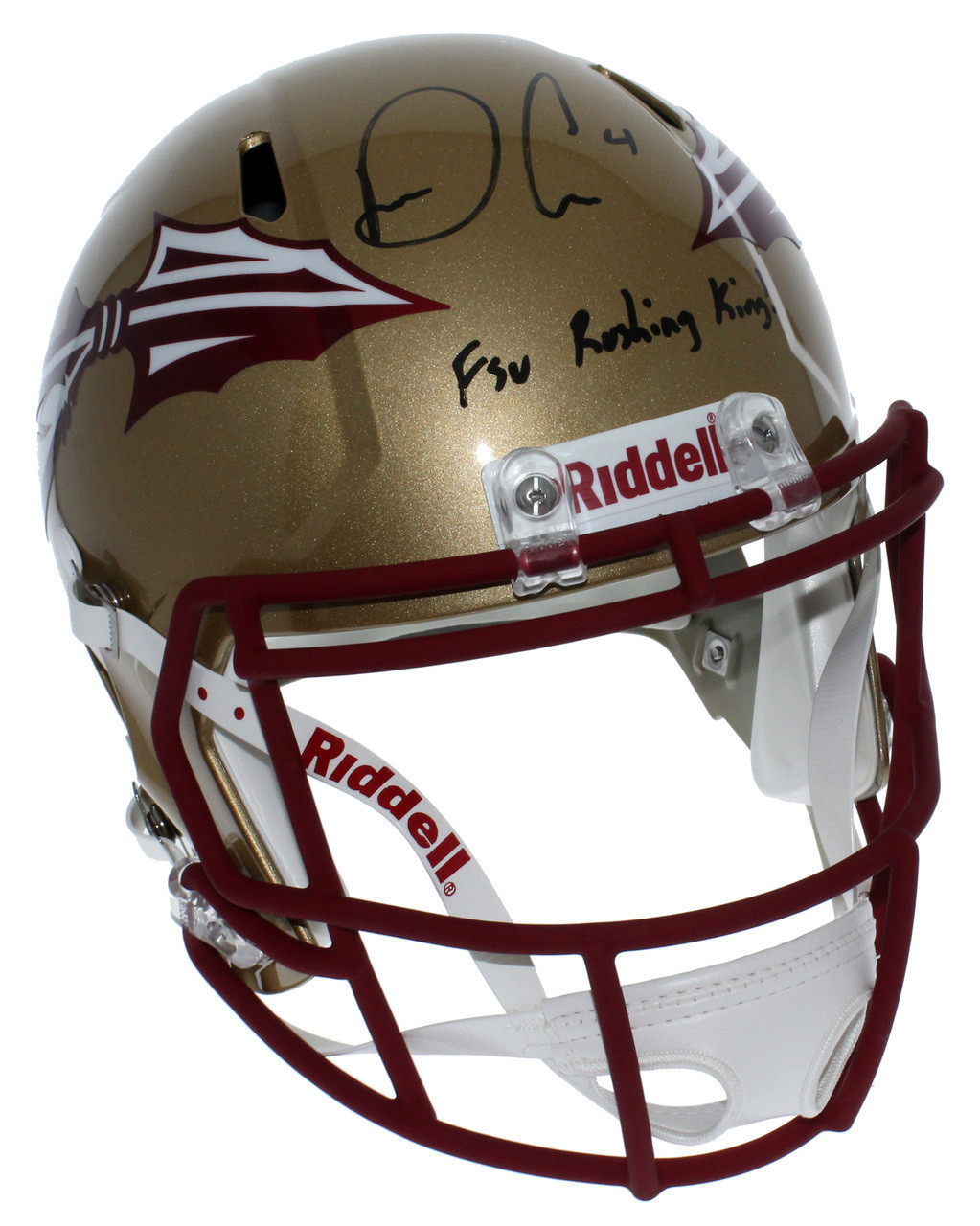 161fd523 Dalvin Cook Florida State Seminoles Autographed Riddell Full Size Speed  Replica Helmet with FSU Rushing King Inscription - JSA Authentic