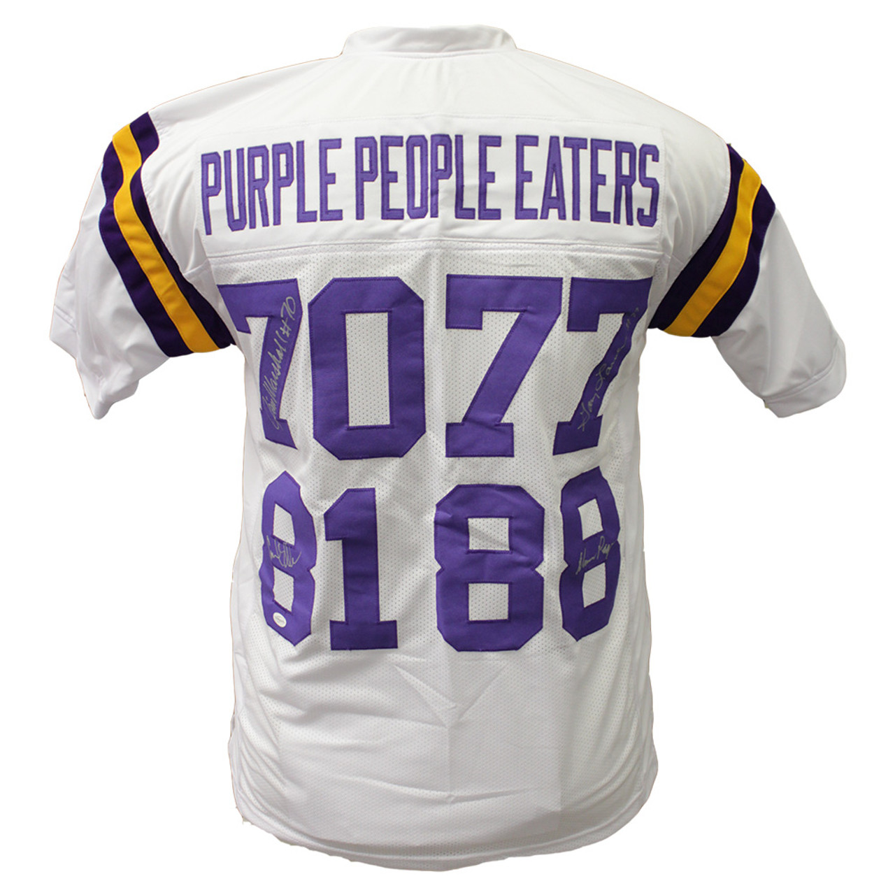 online store 12589 6c473 Purple People Eaters Autographed Minnesota Vikings Custom Jersey Alan Page  Carl Eller Quad Signed Sports Collectibles Auth