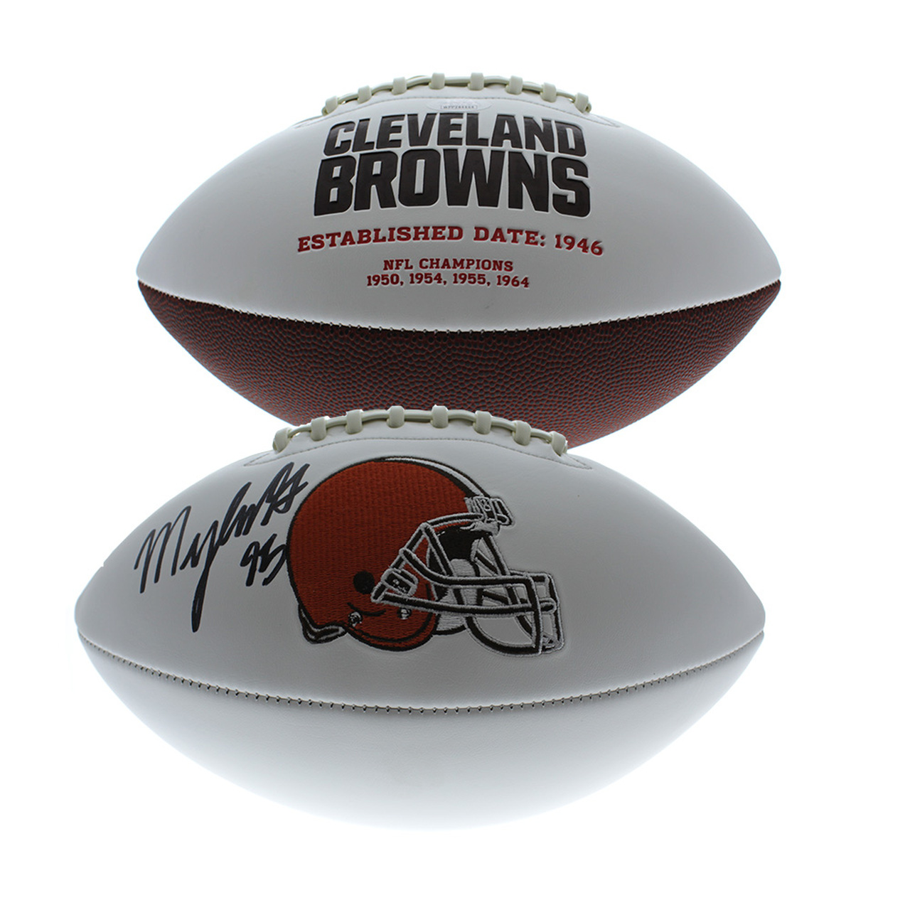 c3a5bd28b Myles Garrett Autographed Signed Cleveland Browns White Panel ...