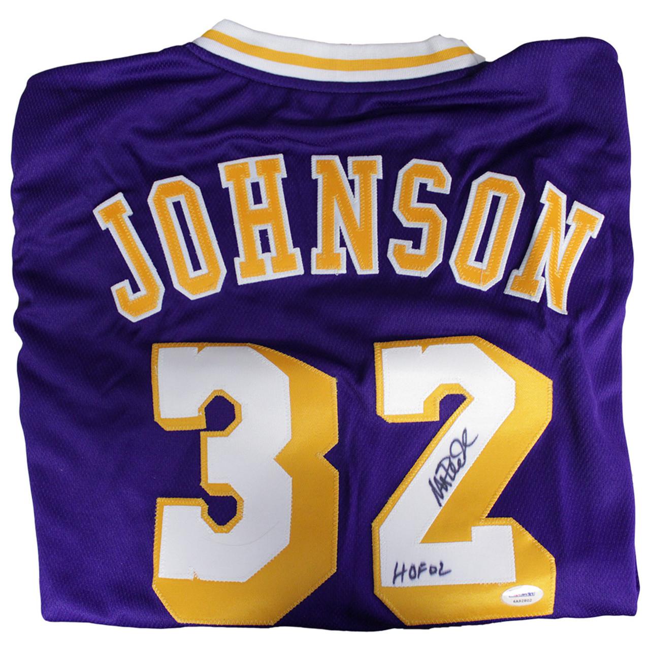 b062136f9 Magic Johnson Los Angeles Lakers Autograpahed Custom Jersey ...