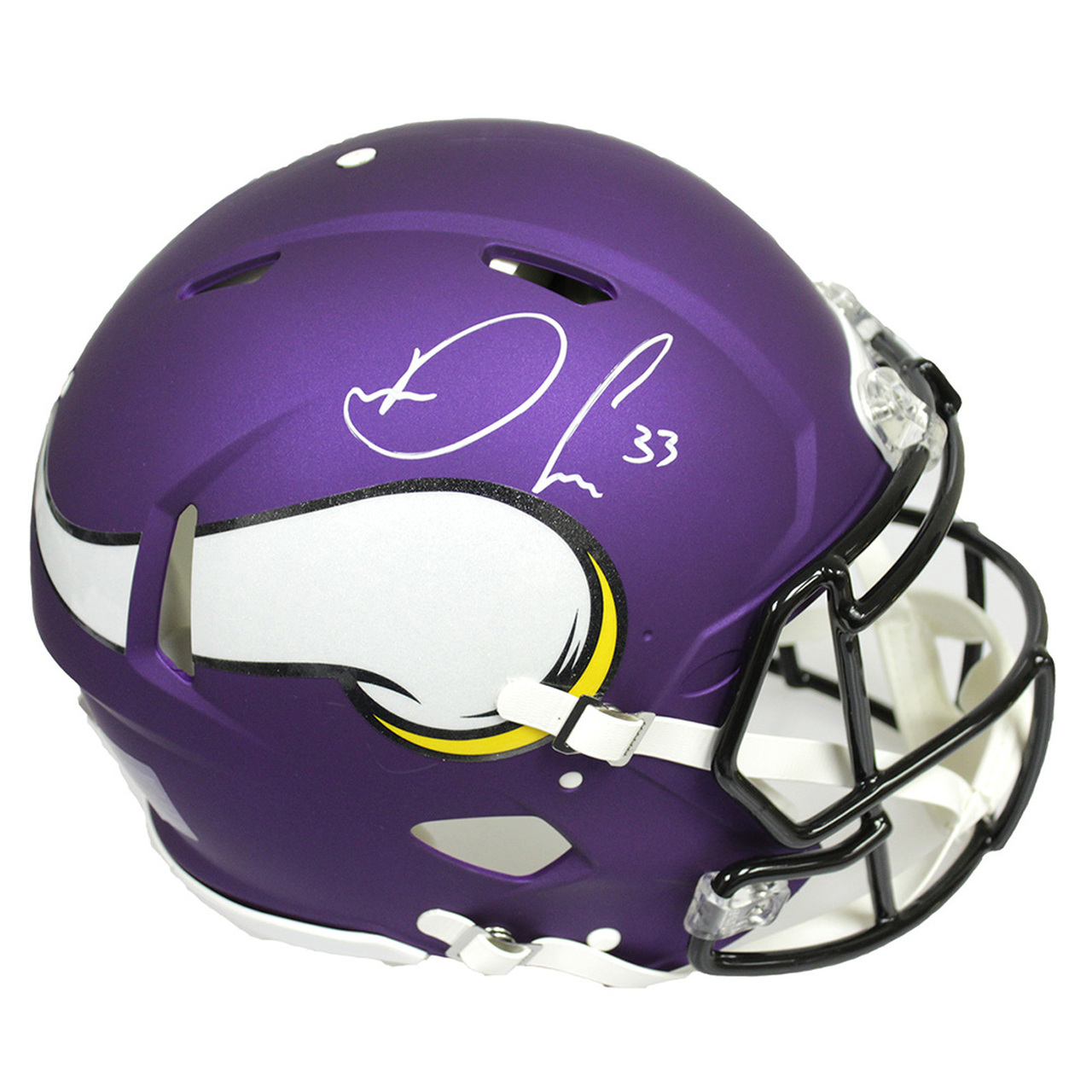 65685660 Dalvin Cook Minnesota Vikings Autographed Signed Full Size Riddell Speed  Replica Helmet - JSA Certified