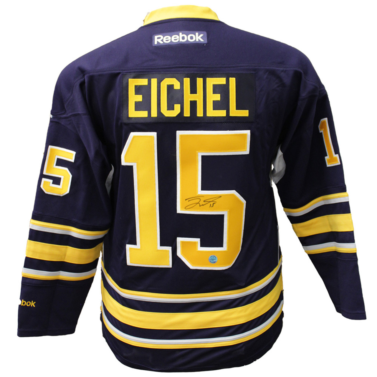 buy online 58ae6 d1107 Jack Eichel Buffalo Sabres Autographed Blue Reebok Premeir Hockey Jersey  Sports Collectibles Auth