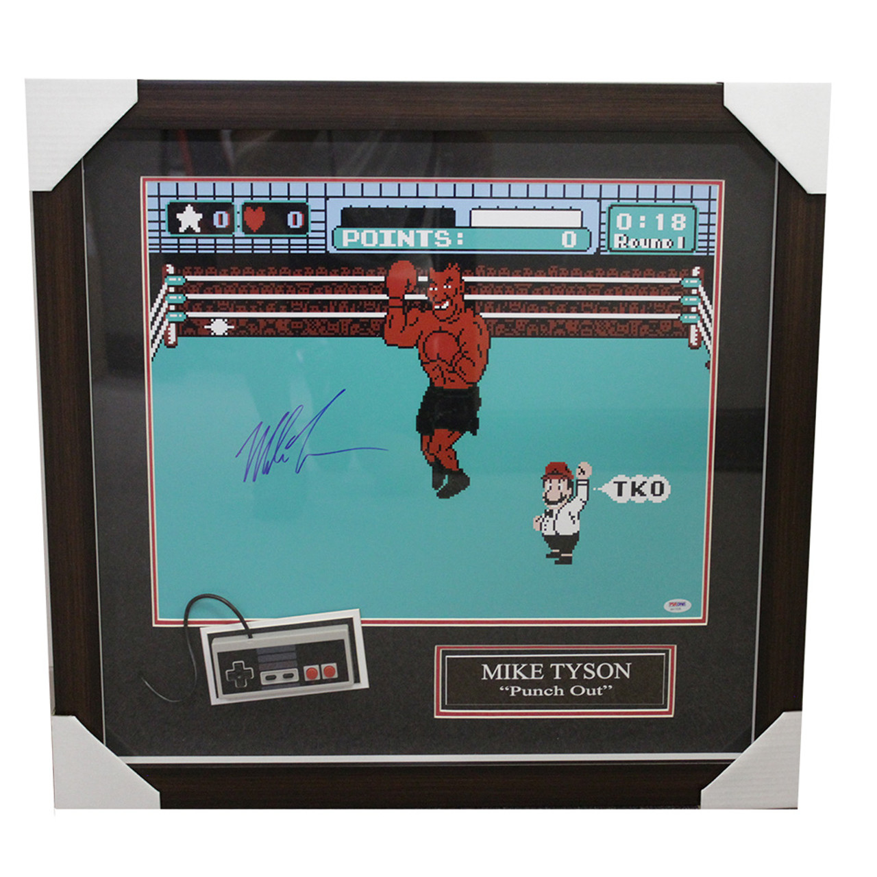 a026dd47d Mike Tyson Punch-out Framed Autographed Signed Game Image with ...