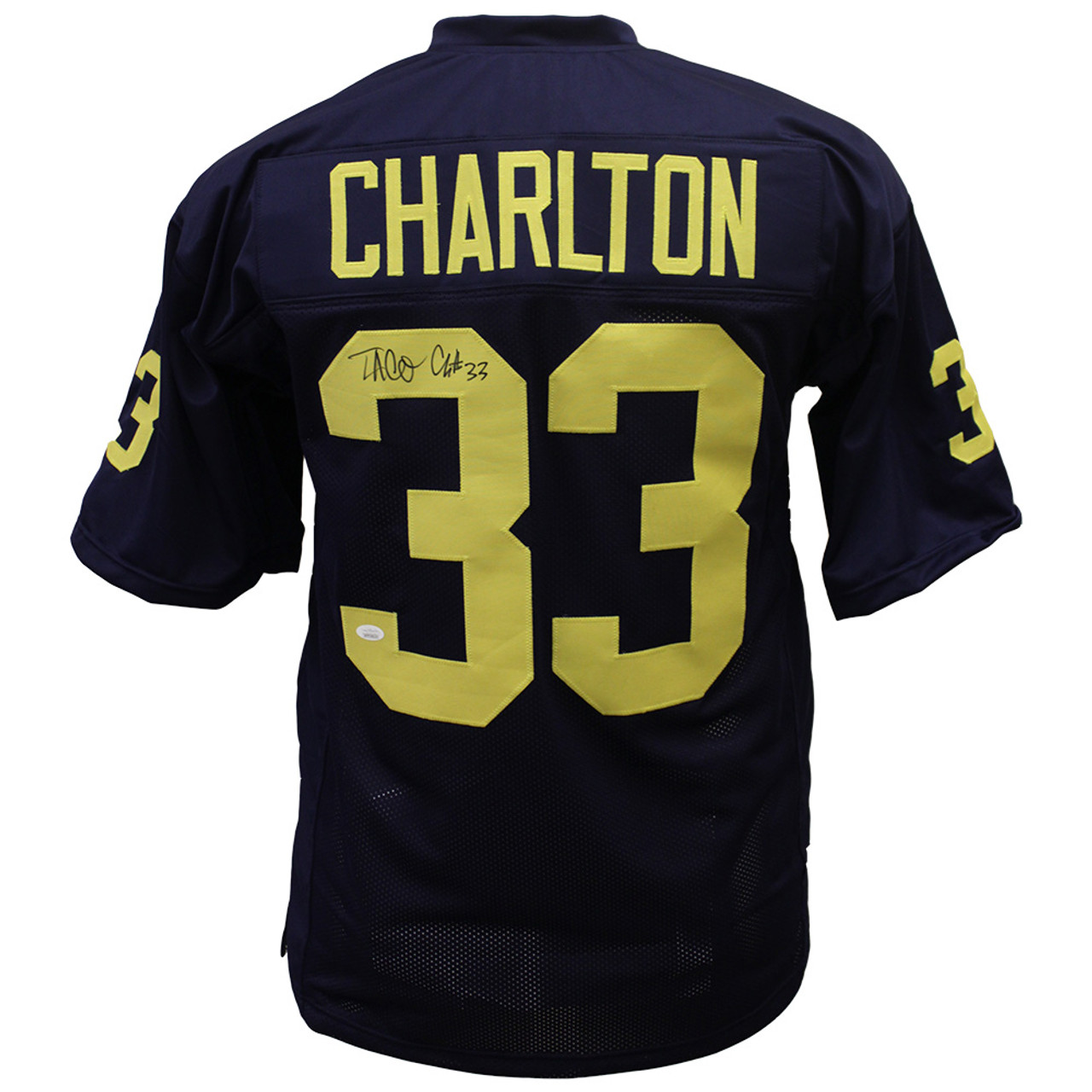 outlet store eb99c 4198b Taco Charlton University of Michigan Autographed Custom Jersey - JSA  Authentic