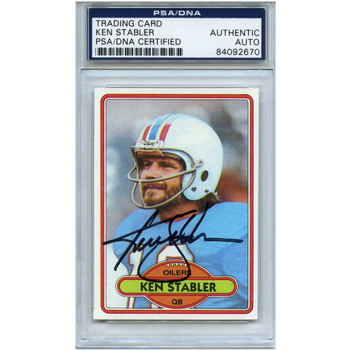 official photos 73d71 0e529 Ken Stabler Autographed Signed Football Trading Card Houston ...