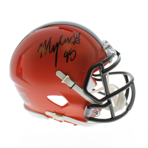 Myles Garrett Autographed Signed Cleveland Browns Riddell Speed Mini Helmet  - JSA Certified Authentic 931a7f637