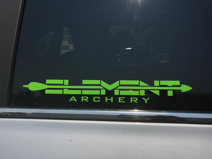 Decal 12x2 Element Archery