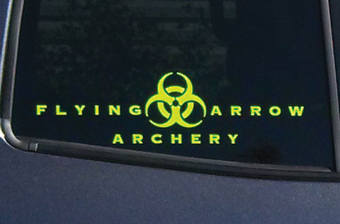 Decal Flying Arrow Archery 12 x 2