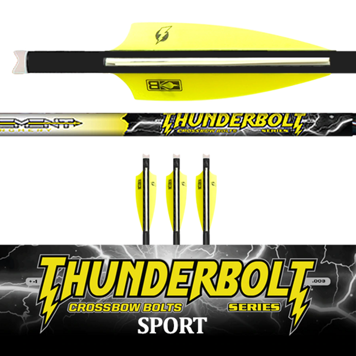 Thunderbolt Sport 250 Crossbow Bolt (.003) - 3 Pk Fletched