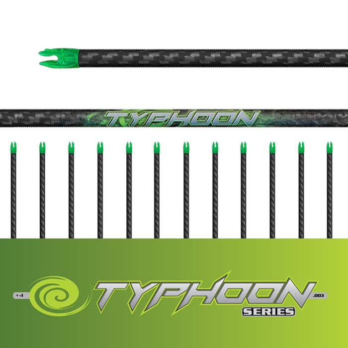 Typhoon Arrows (.003)-12Pk - Bare Shafts