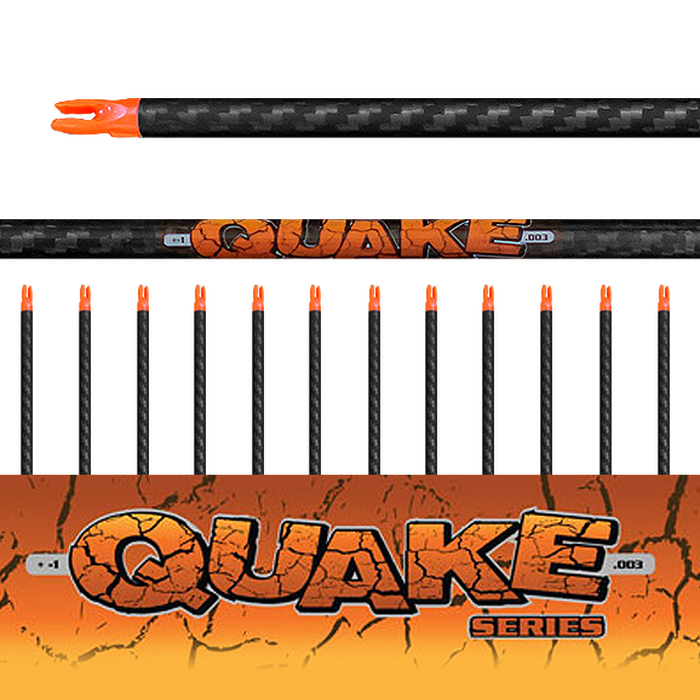 Quake Arrows (.003) 12Pk - Bare Shafts