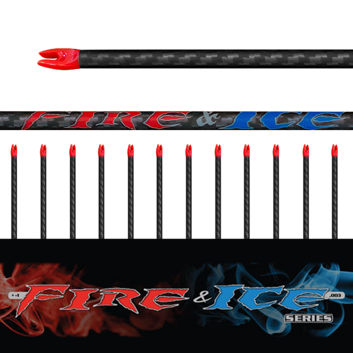 Fire & Ice Arrow (.003) 12Pk - Bare Shafts
